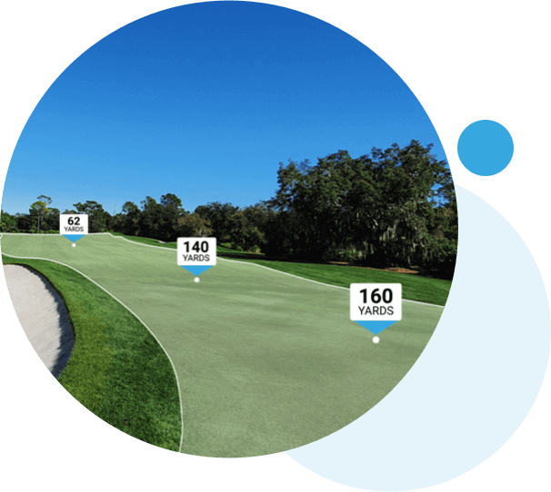 Golf Course showing course mapping and GPS yardages